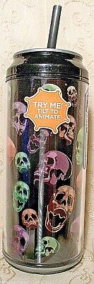 Cool Gear Can Halloween (Cool Gear Can Colored Skulls Black Tilt To Animate 16 oz Travel Cup Halloween)