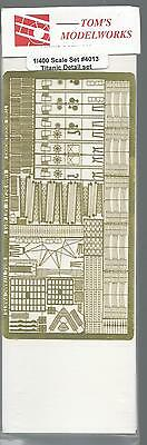 Tom's Modelworks Titanic Photo Etch Detail Set in 1/400  4013  ST