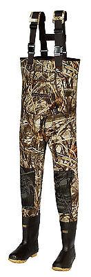 New Men MAX-4 Camo Fishing/Hunting Neoprene Wader Lug Boots Size 12 Regular