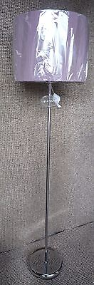 CHROME + GLASS ENGLISH VINTAGE FLOOR STANDING LIGHT STANDARD LAMP LIGHTING NEW