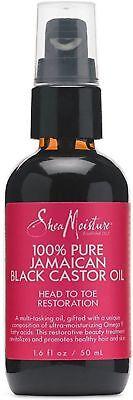 Shea Moisture 100% Pure Jamaican Black Castor Oil 1.6 oz  *N