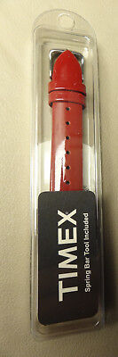 Patent Leather Watch (New Timex Glossy Cherry Red Genuine Patent Leather 16mm Regular Watch Band)