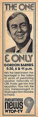1976 Wtop Washington D C  Tv Ad Gordon Barnes Weather Metrorologist News