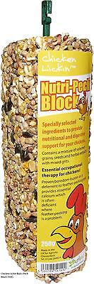 3 x Chicken Lickin Nutri-Peck Blocks 250g Anti Feather Pecking Treat for Poultry