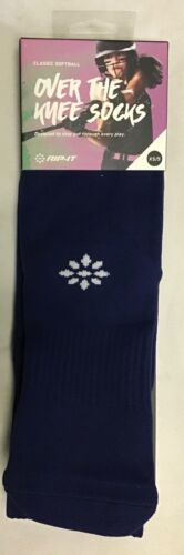 RIP-IT Classic Softball Over The Knee Sock (Navy, XS/S) - NEW