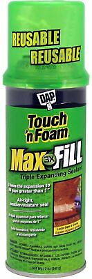 Dap 43 Touch N Foam 4001031212 Maxfill Maximum Expanding Sealant 12oz Tan