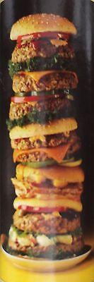 Foodie Door Mural—-GIANT HAMBURGER DOOR MURAL