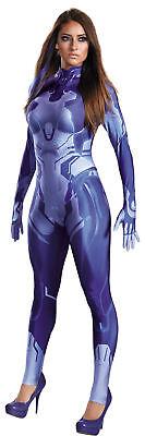 Cortana Erwachsene Body Kostüm Halo Damen Blau - Cortana Kostüm