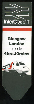 1984 INTERCITY APT Official Bookmark GLASGOW to LONDON  British Rail BR