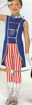 NWOT Toy Soldier Tails Striped Pants Dance Costume Theatrical Uncle Sam - Female Toy Soldier Costume