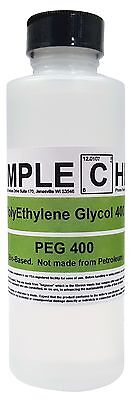 Organic Polyethylene Glycol 400 2oz Bottle Naturally Sourced. Peg 400 Uspnf