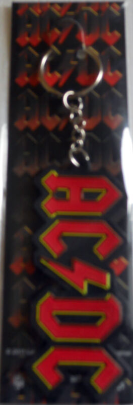 AC/DC LOGO Rubber Key chain Red Black