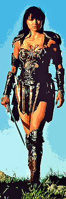 PRINCESS XENA LUCY LAWLESS IN WARRIOR OUTFIT RETRO ART LIFESIZE CANVAS 72X24