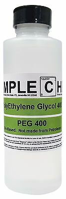 Organic Polyethylene Glycol 400 Naturally Sourced 8 Oz Bottle Peg 400 Uspnf