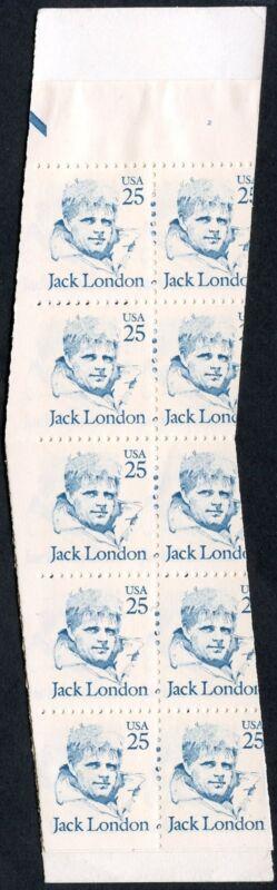 """#2182a Var. """"jack London"""" Unexploded Bklt Miscut Major Error Bp2614"""