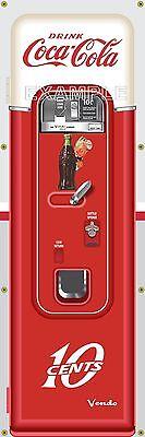 COKE COCA COLA VENDING MACHINE ANTIQUE VINTAGE REMAKE ART BANNER MURAL SIGN 2x6