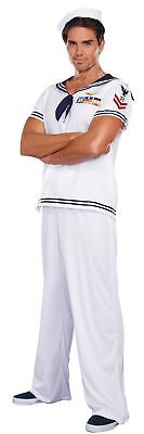 Ship Happens Mens Adult Sailor Costume White Navy Military Halloween (Ship Happens Halloween Costume)