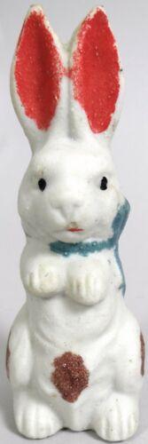 Antique Easter Bunny Rabbit Figurine Bisque Victorian Doll Toy Porcelain Vtg