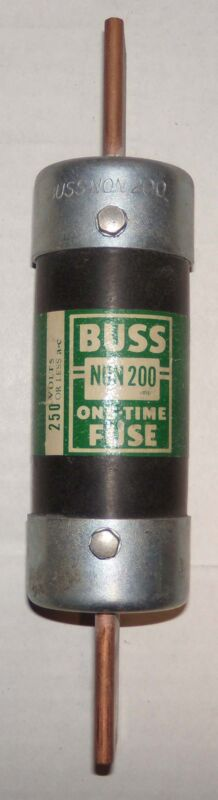 Buss One Time 200 Amp Fuse 250 Volts Catalog #  NON 200