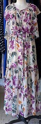 MISA Los Angeles Celina Floral Print Tie Waist Dress Size Extra Small XS