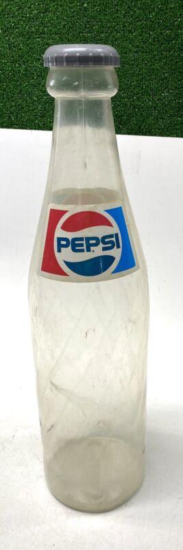 "Vintage Giant PEPSI Bottle 24"" Blow Mold Plastic Coin Bank Complete W Lid"