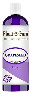 Grapeseed Oil 16 oz Cold Pressed 100% Pure Organic Grape Seed For Skin Face Hair