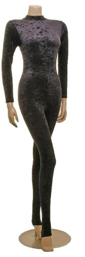 Catsuit Polo Neck Crush/Smooth Velvet Long Sleeves (#ELSA)