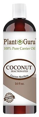 Coconut Essential Oils Massage Oil - Fractionated Coconut Oil 16 oz Pure Carrier For Essential Oils Massage Skin Hair