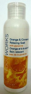 Entspannendes Fußbad ((100ml = 6,60€) Avon - Foot Works Orange & Zimt Entspannendes Fußbad)