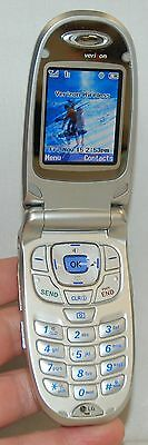 LG VX6100 Verizon Wireless Flip SILVER Cell Phone mobile VGA 4x Zoom Camera ID B Zoom Verizon Wireless