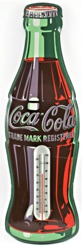 Coca Cola Bottle Thermometer Trademark Registered Collectible R-3-56 Made In USA