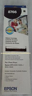 EPSON 8766 BLACK RIBBON CARTRIDGE FOR DFX-5000-8000-8500 Impact - 8766 Black Printer Ribbon