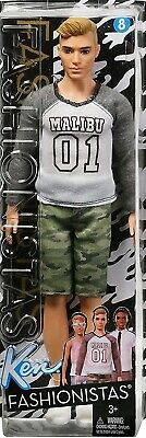 Barbie FASHIONISTAS KEN Doll FNH40 #8 MAKING A CAMO COMEBACK Shorts Malibu Tee