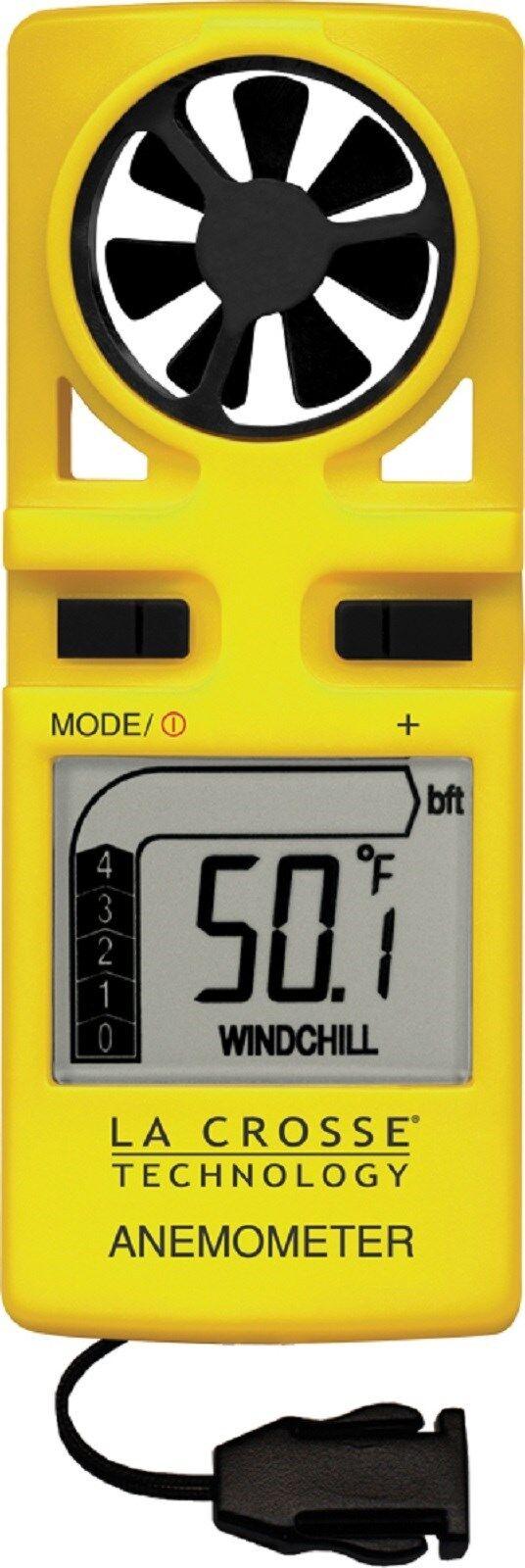 EA-3010U La Crosse Technology Handheld Anemometer with LED Backlight & Neck Band