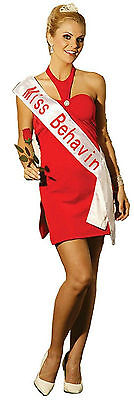 Beauty Contest Winner Miss Behavin Adult Sexy Costume Red Dress Size Medium 6-10