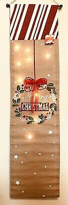 """LED Lights Burlap MERRY CHRISTMAS Wall Hanging Banner 60"""" Battery Operated](Merry Christmas Lights Banner)"""