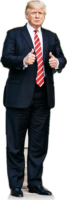 """Donald Trump - Two Thumbs Up - 75"""" Tall Life Size Cardboard Cutout Standee"""