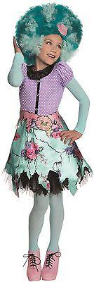 Monster High Childrens Costumes (Girls Monster High Honey Swamp Costume Fancy Dress Kids Child Halloween)