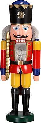 NUßKNACKER König rot 39cm NEU Erzgebirge Seiffen Volkskunst Original Weihnachten