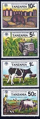 Tanzania 1982 QEII World Food Day set of 4 mint stamps LMM