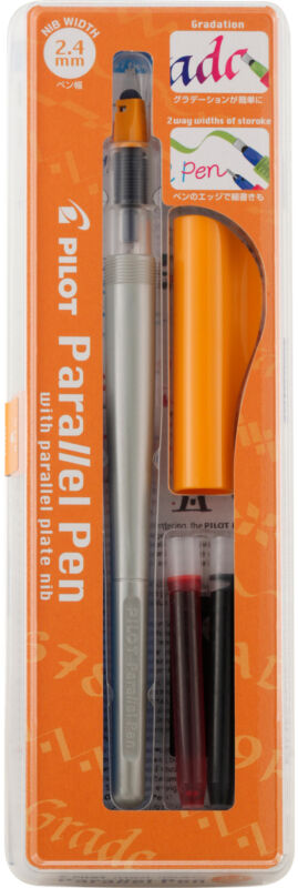 Pilot Parallel Calligraphy Pen Set 2.4mm Nib-Black & Red Ink, 90051