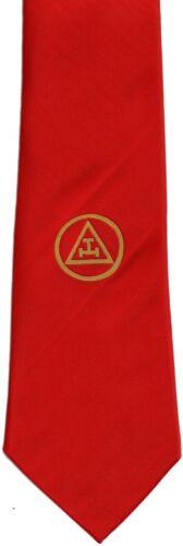 MASONIC ROYAL ARCH TRIPLE TAU TIE RED WOVEN (MT-002 JQD)