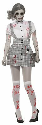 Zombie School Girls Adult Womens Costume One Size NEW - Adult School Girls