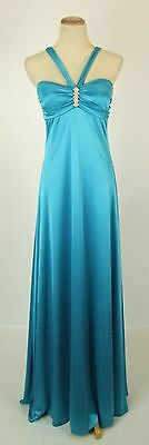 Windsor  80 Turquoise Evening Prom Formal Cruise Long Dress Size 11 Gown Maxi