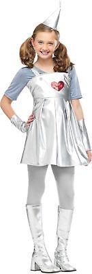 Wizard of Oz Tin Gal Child Costume Movie Girls Dress Theme Party - Tin Girl Halloween Costume