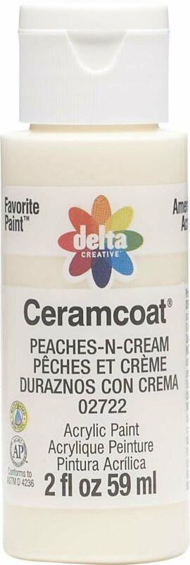 Plaid:Delta Ceramcoat Acrylic Paint, 2 oz, Peaches-N-Cream