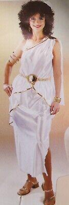 Römerin Kostüm Griechische Göttin Toga weiß-gold Damen Karneval - Goldene Göttin Kleid