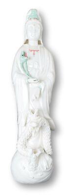 Dripping Guanyin Buddha Statue, Fine Porcelain Ceramic Quan Yin Buddha with L...