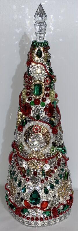 Vintage & Modern Rhinestones / Jewelry / Jeweled Christmas Centerpiece Tree