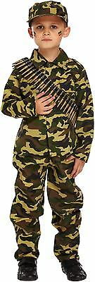 Boys Dressing Up Outfit (Boys Army Soldier Child's Fancy Dress Dressing Up Outfit World Book Day Costume)